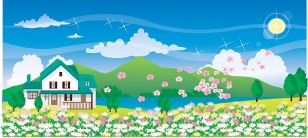 600x269 Garden Flowers Vector Graphic Free Vector Download (10,422 Free