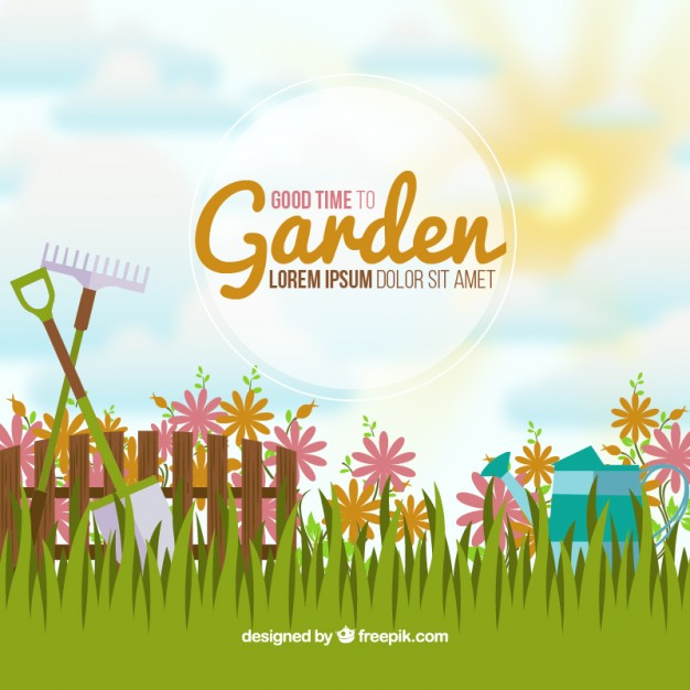 626x626 Idyllic Garden Background Vector Free Download