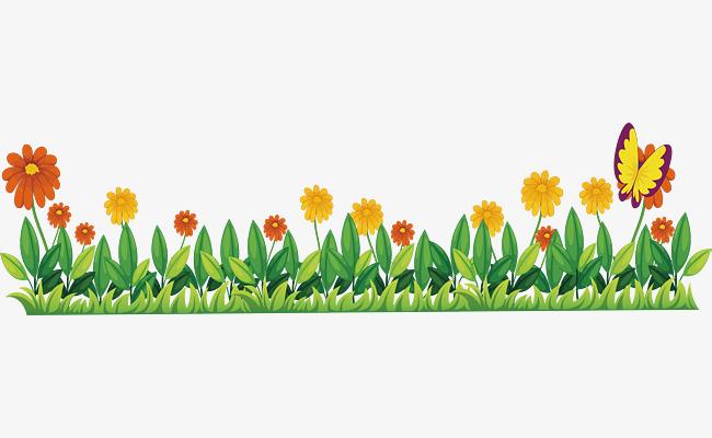 650x400 Little Fresh Garden, Vector Png, Garden, Small Yellow Flower Png