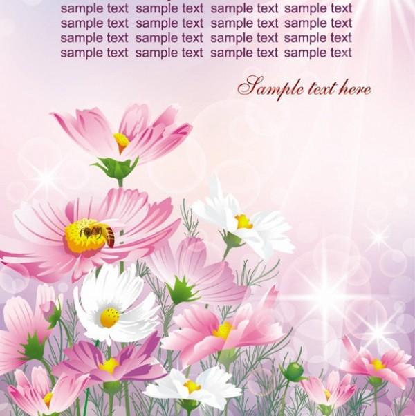 600x602 Spring Flowers Garden Vector Background