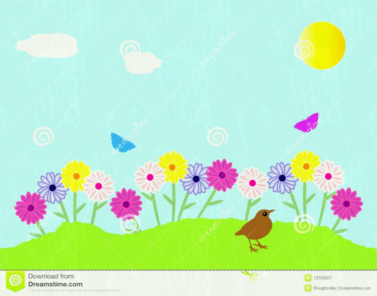 1300x1020 Collection Of Flower Garden Background Clipart High Quality