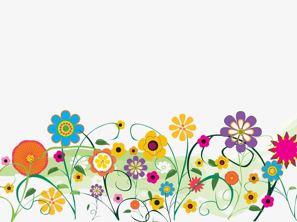 1024x765 Decorative Flowers Vector Vector Art Amp Graphics