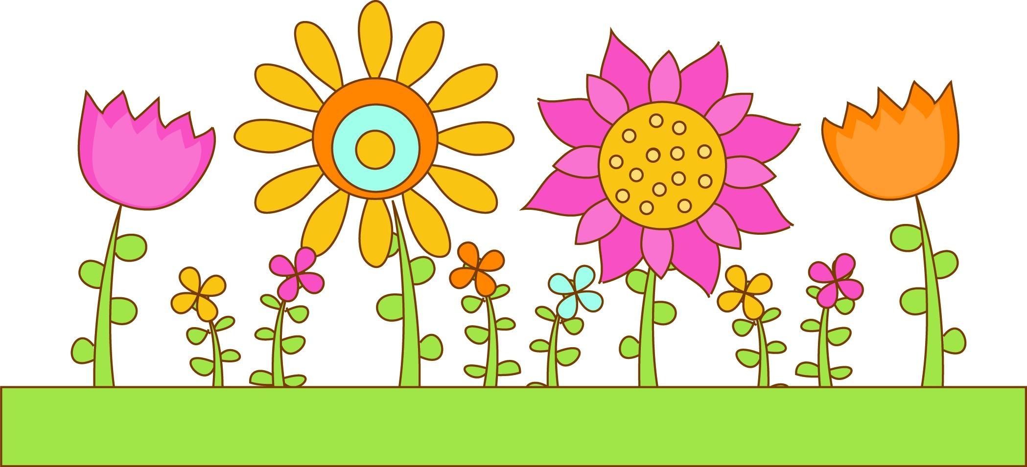 2098x955 Flower Garden Border Clip Art Beautiful Hd Flower Garden Clip Art