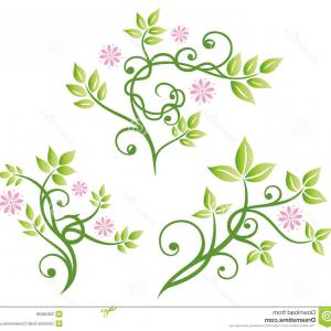 300x300 Flower Watercolor Flower Border Vintage Vector, Vector Corner