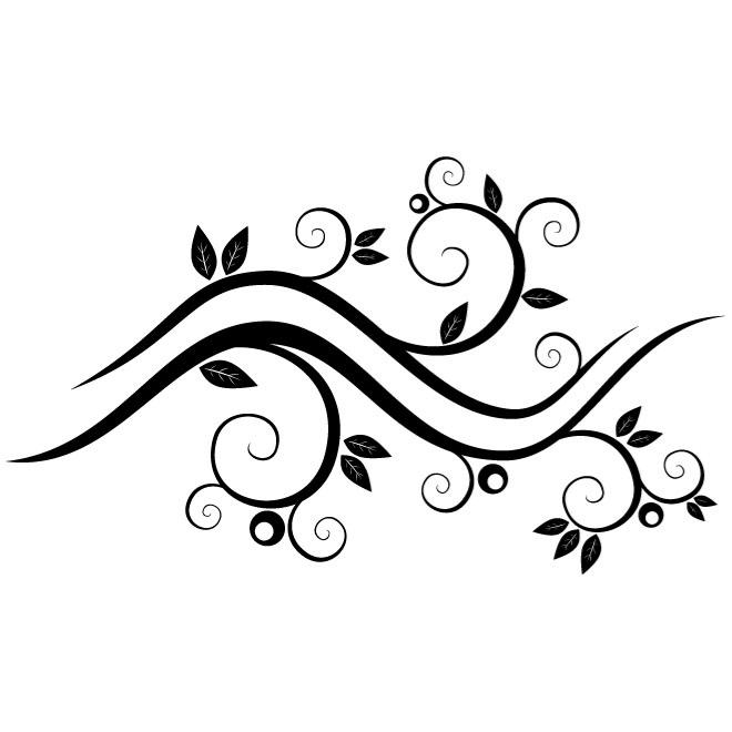 660x660 Flower Branch With Leaves Vector