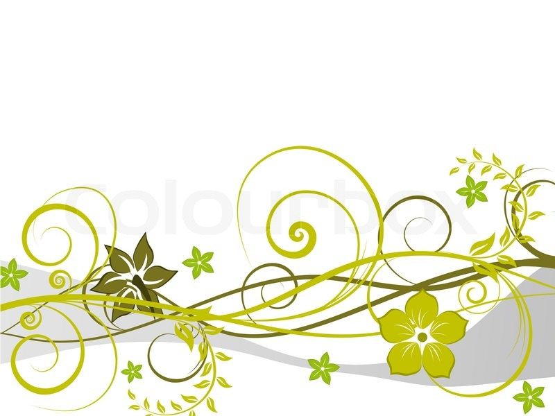 800x600 Floral Vector Background With Leaves And Flowers Stock Vector