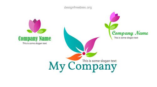 500x280 Free Vector Floral Logo Design Templates Designfreebies