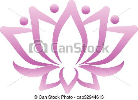 450x325 Lotus Flower Logo Vector Design.