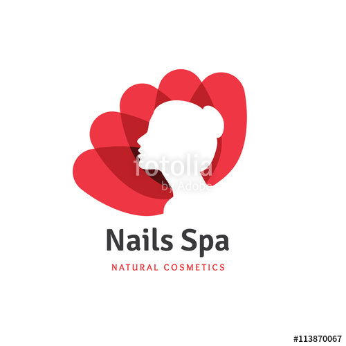 500x500 Nails Spa Logo,beauty Logo,nail Logo,lotus Logo,flower Logo,spa