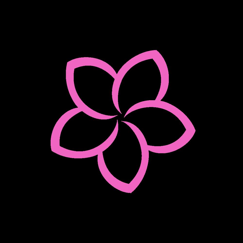 999x999 Plumeria Flower Logo Vector Png