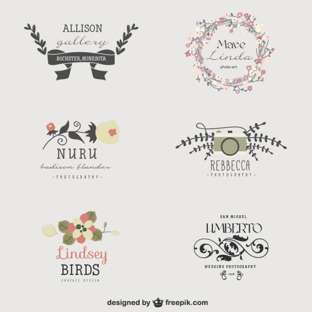 626x626 Visual Artist Floral Logo Templates Vector Free Download