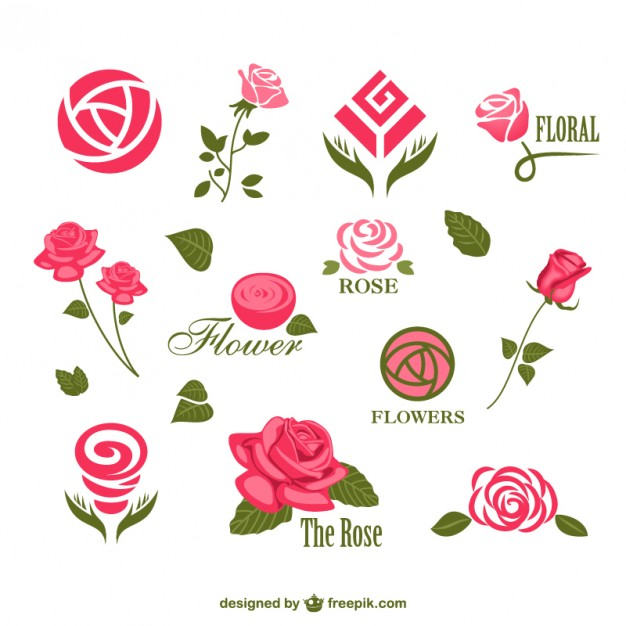626x626 Abstract Rose Logos Vector Free Download