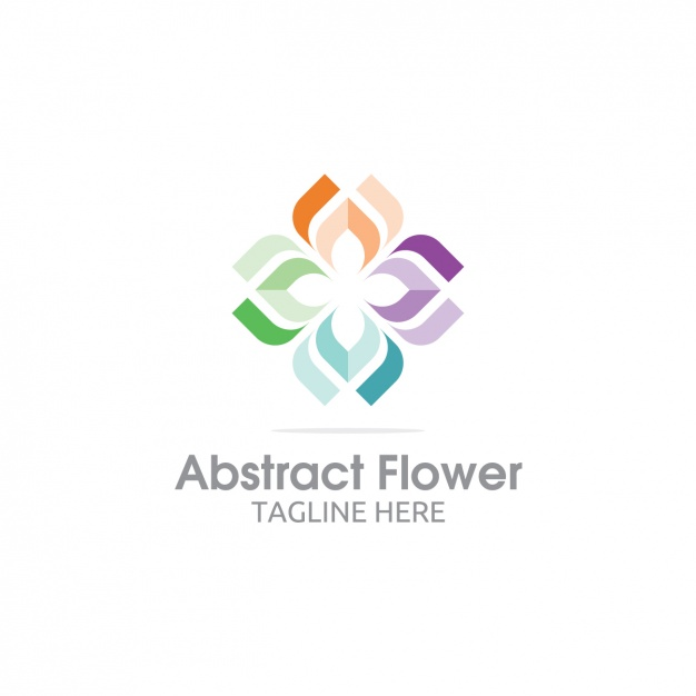 626x626 Colorful Abstract Flower Logo Vector Free Download