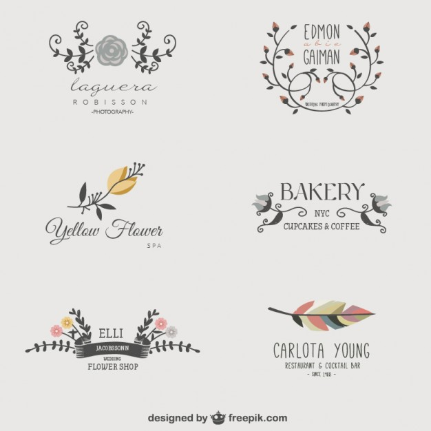 626x626 Floral Business Logos Vector Free Download