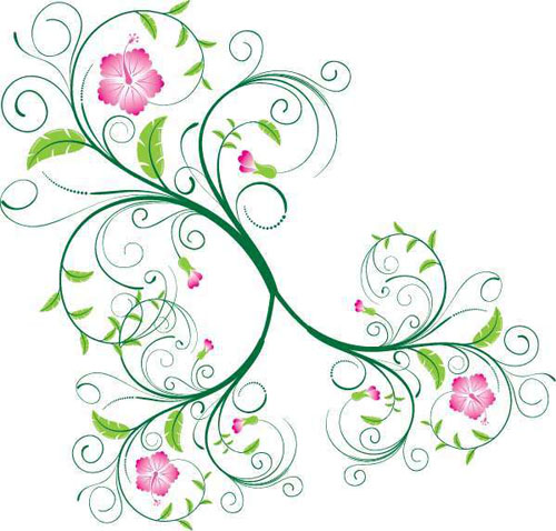 500x478 30 Free Swirl,curly And Floral Vectors For Designers Designbeep