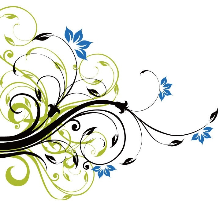 729x665 Flower Swirl Vector Background Swirl Floral Decoration Background