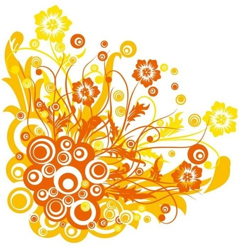 481x496 Free Vector Graphic Flowers And Swirls Free Vector In Encapsulated