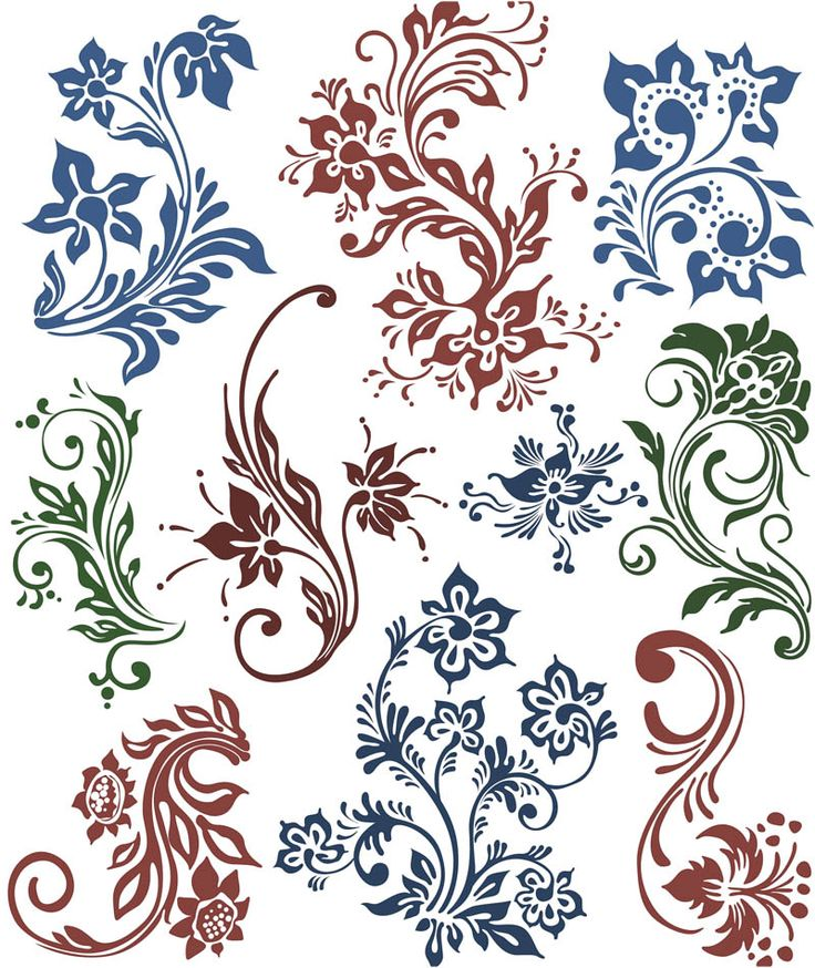 736x874 Free Vector Clip Art Flowers