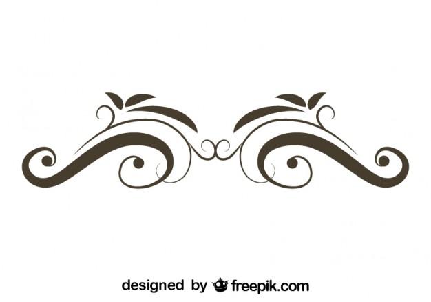 626x438 Retro Floral Swirl Stylish Design Vector Free Download