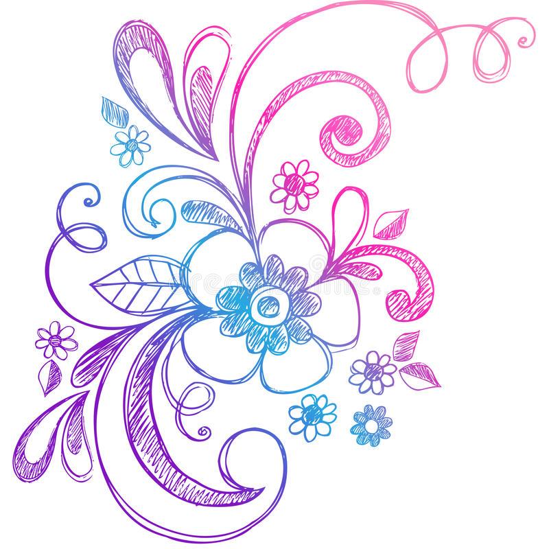 800x800 Cute Flower Swirl