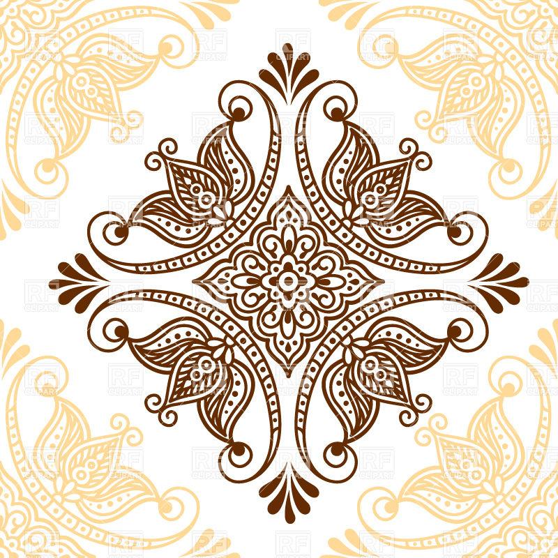 800x800 Ornamental Mehndi Style Flower