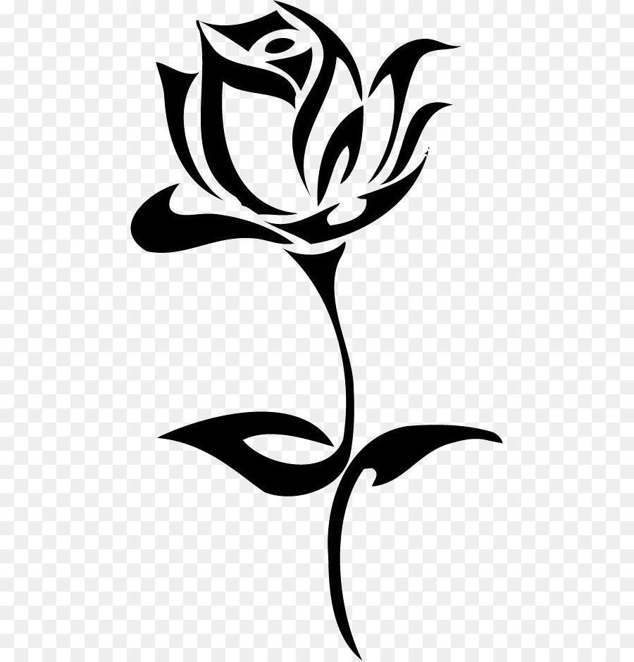 900x940 Rose Tattoo Drawing Clip Art