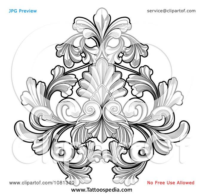 683x650 Flower Tattoo Vector Free 1