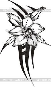 178x300 Tribal Flower Tattoo