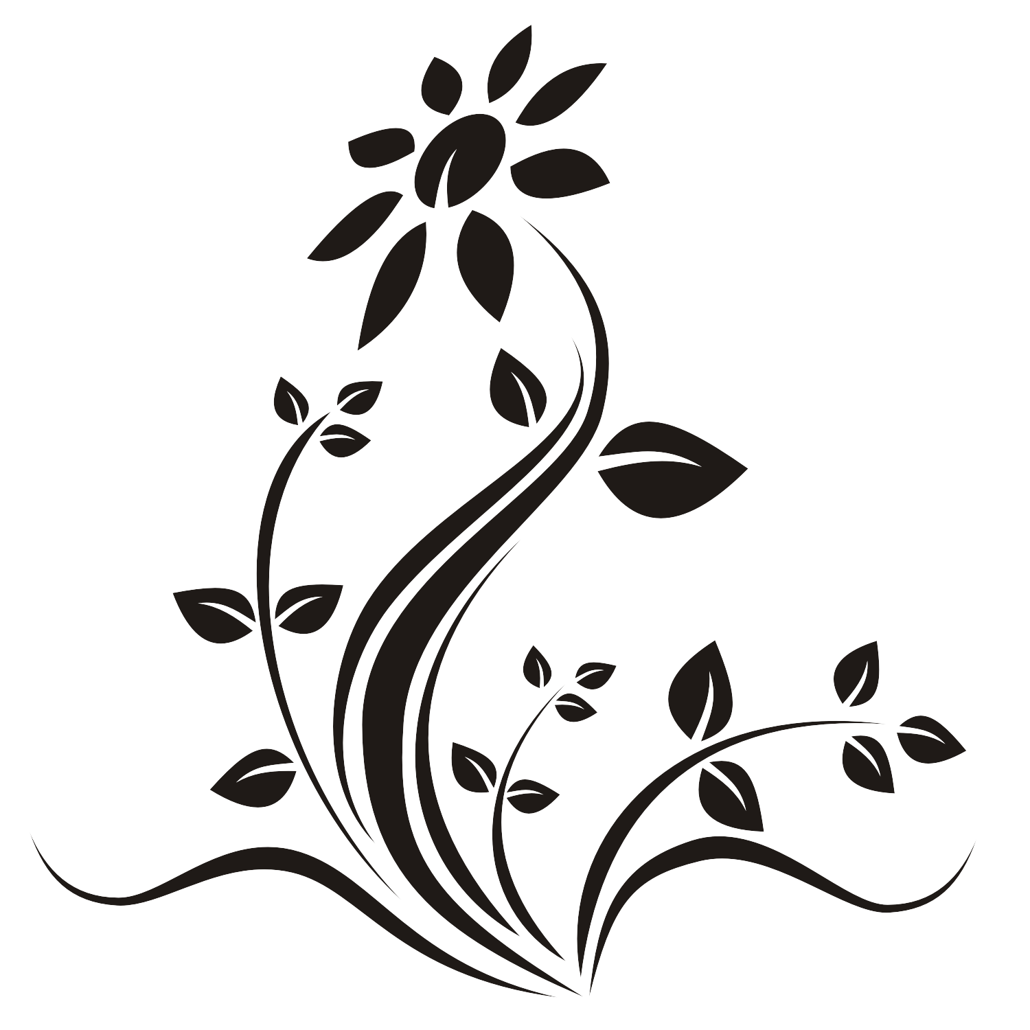 1500x1500 Vector For Free Use Flower Tattoo Vector