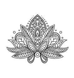236x248 Lotus Flower Tattoo Vector