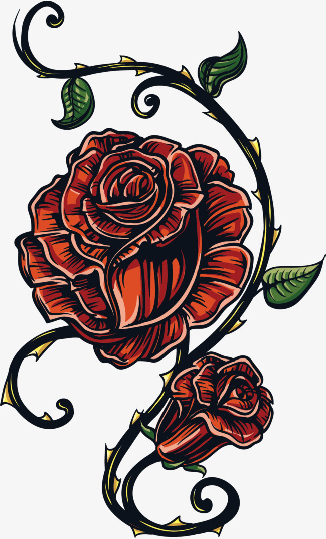 650x1075 Flowers Flowers Tattoo Vector, Flowers, Flowers, Gothic Pattern