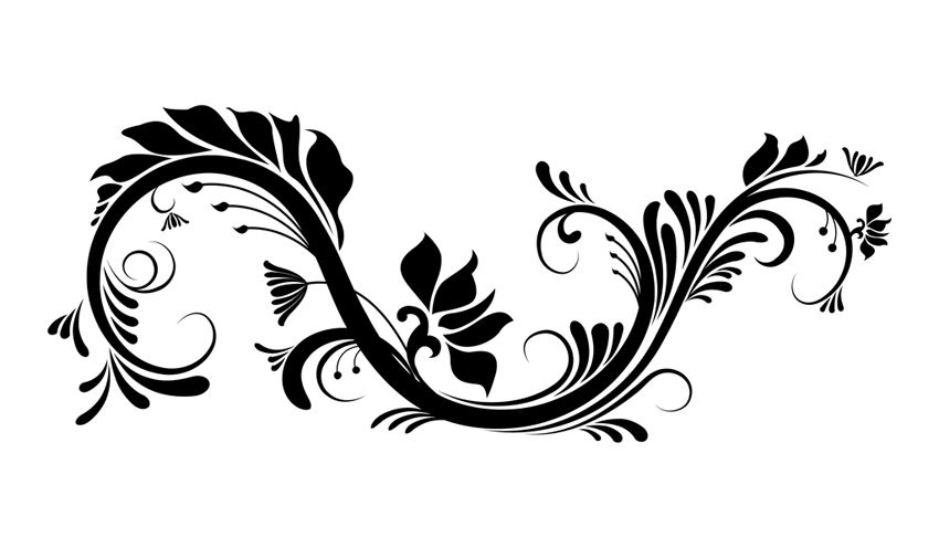 850x496 Flower Swirl Clip Art Swirl And Flowers Vector Graphic Graphic