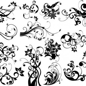 300x300 Eps Amp Ai Floral Design Elements Vector