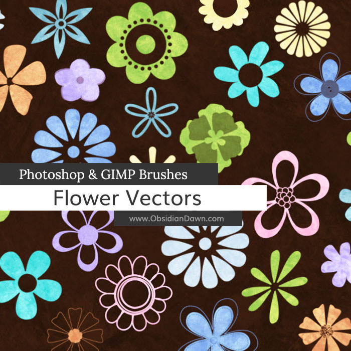 700x700 Flower Vectors Photoshop Amp Gimp Brushes Obsidian Dawn