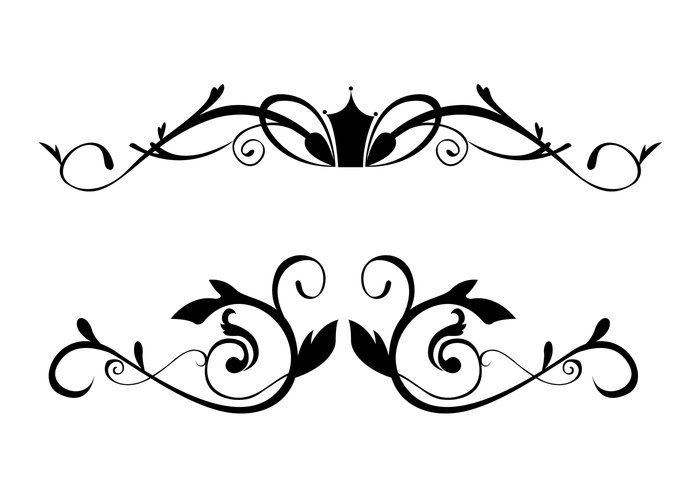 700x490 Free Floral Ornamental Border Brushes