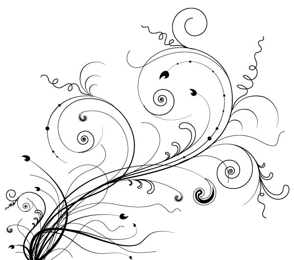 600x530 Freebie Release 5 Floral Ornaments Vector Brushes