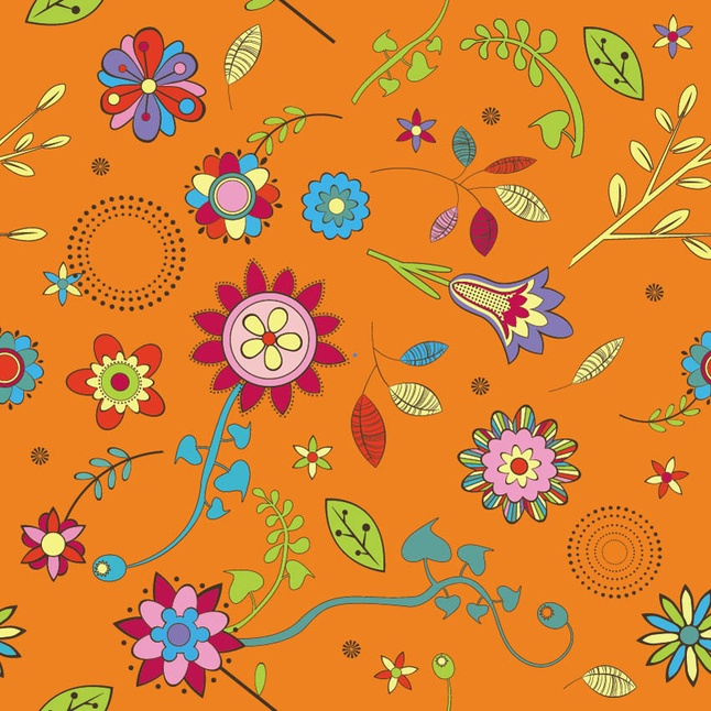 646x646 Retro Flower Vector Brush Vector Free Download