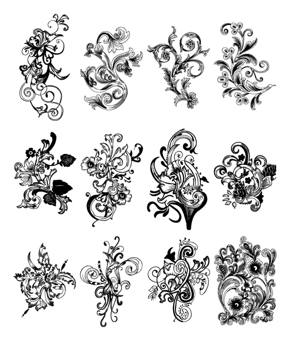 600x711 Roundup Of Free Vintage Ornament Amp Floral Vectors
