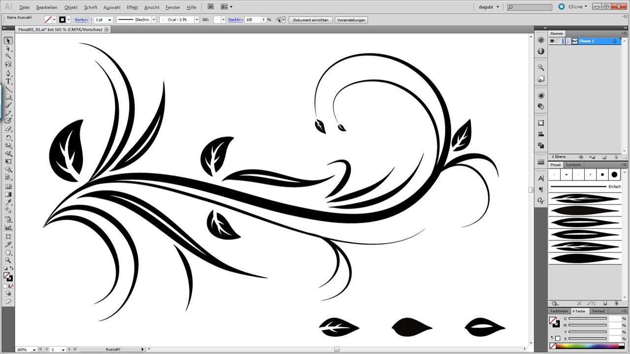 1280x720 Swirl Floral Tutorial Illustrator