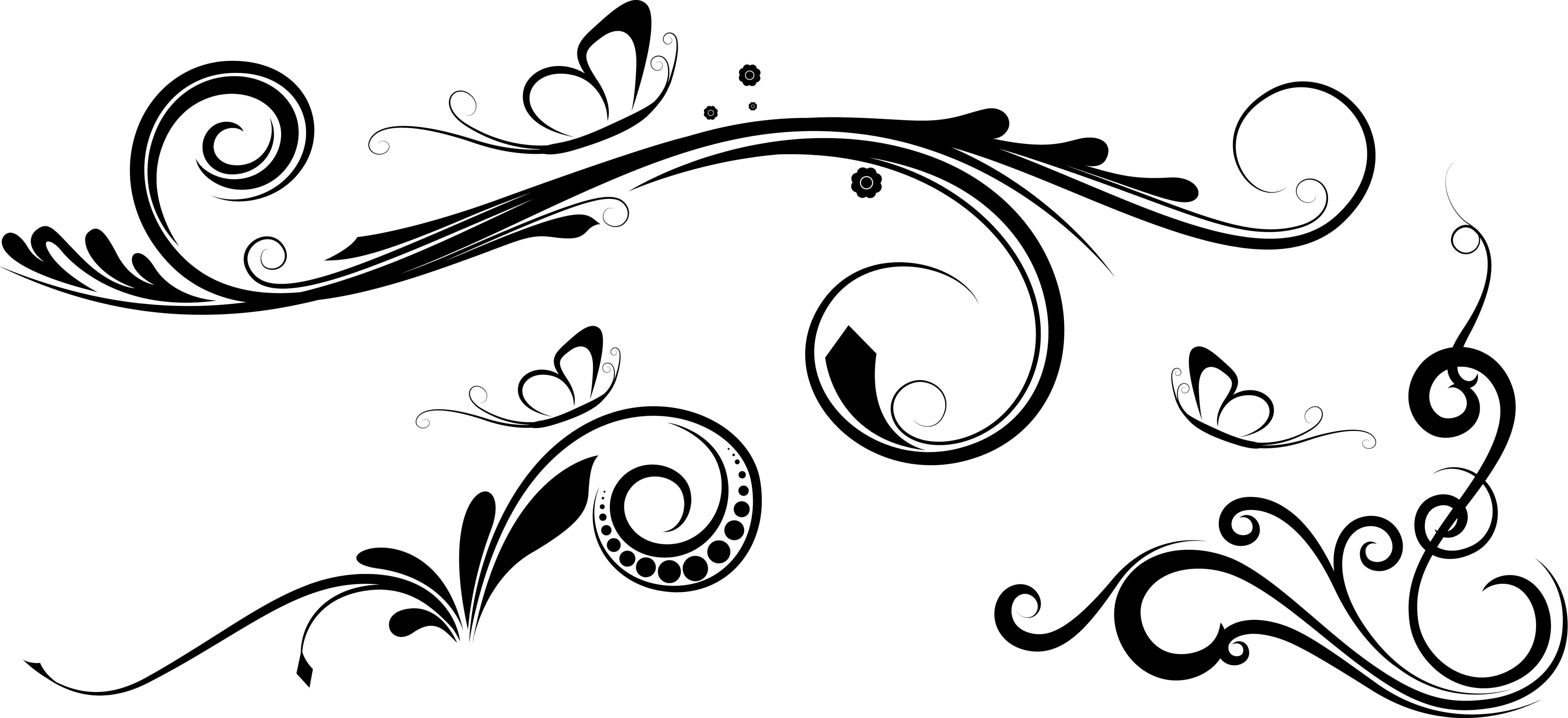 5020x2300 Vector Flowers Brushes Png