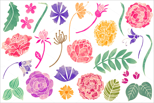 585x389 Floral Photoshop Brushes
