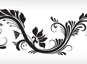283x208 Swirly, Curly Amp Floral Vector Resources