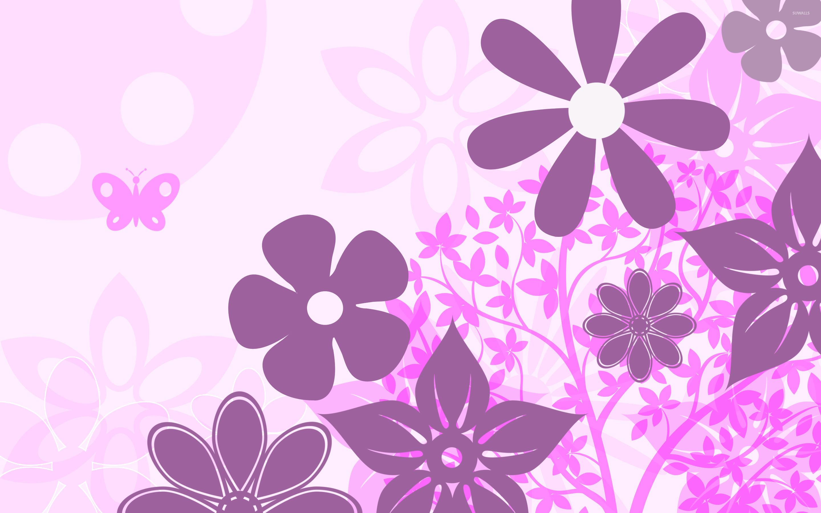 Flower Vector Wallpaper At Getdrawings Free Download