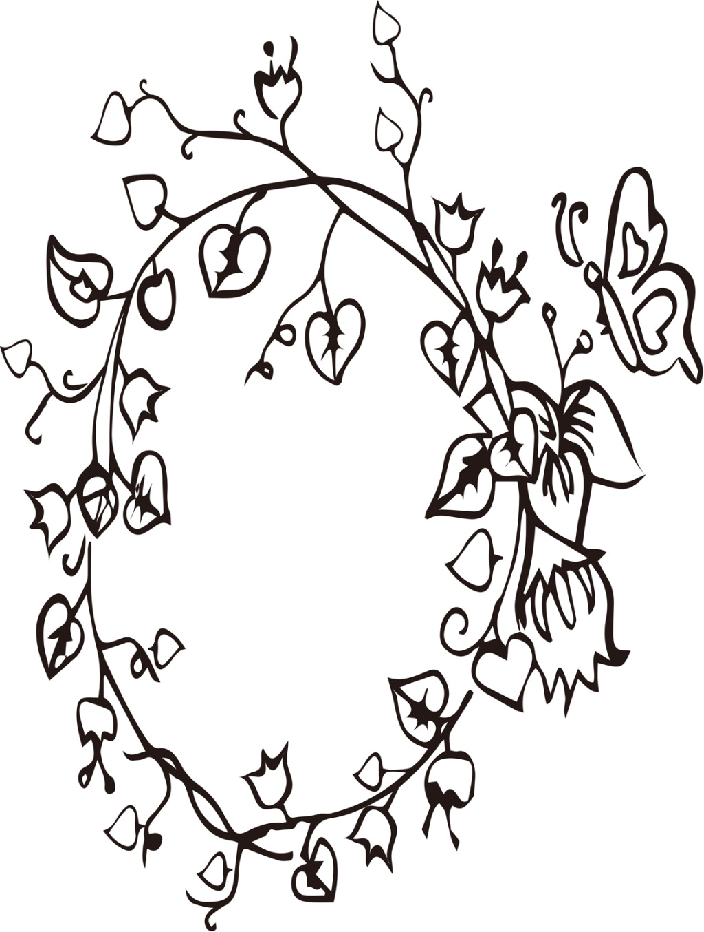 1024x1354 Flower Vine Preparation Vector Free Download Ai Files