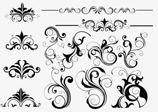 650x461 Vine Pattern Collection, Flower Vine, Vector, Pattern Png And