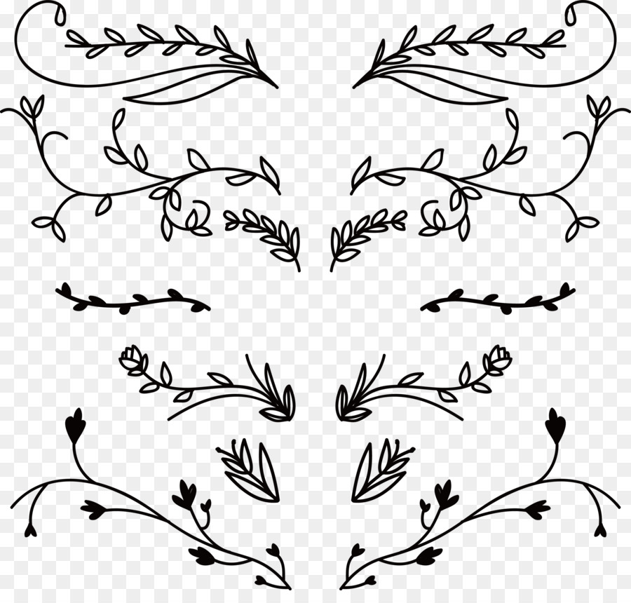 900x860 Download Flower Ornament Euclidean Vector Hand Drawn Plant Flower