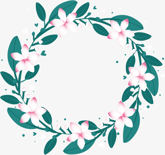 650x611 Little Fresh White Flower Wreath, Flower Vector, Wreath Vector