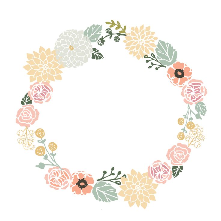 736x736 Pin By Sandra Muffels On Kerstmenu Free Floral Wreath