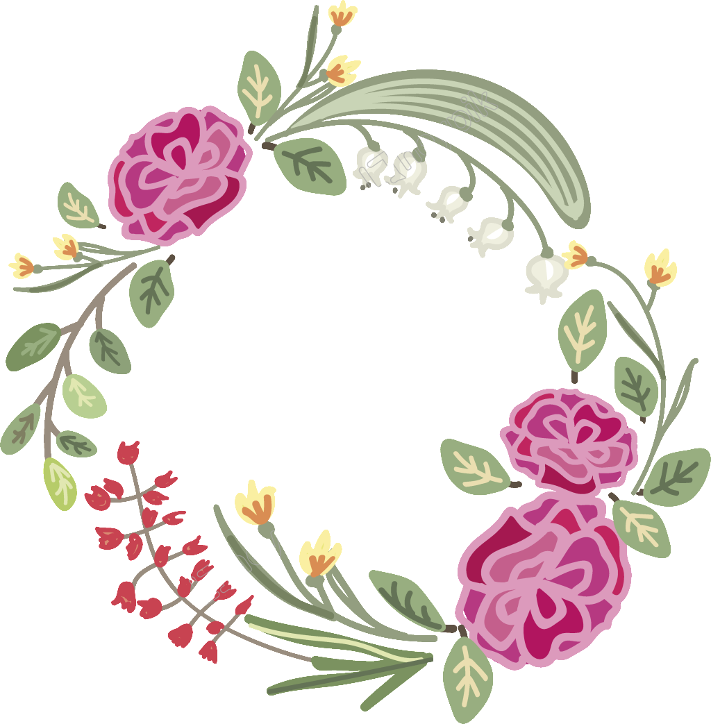 1024x1043 Wreaths Vector Floral ~ Frames ~ Illustrations ~ Hd Images ~ Photo