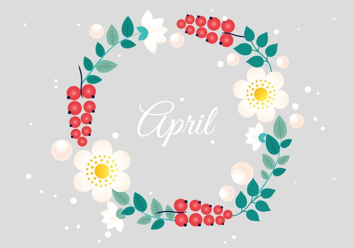 700x490 Floral Wreath Free Vector Art